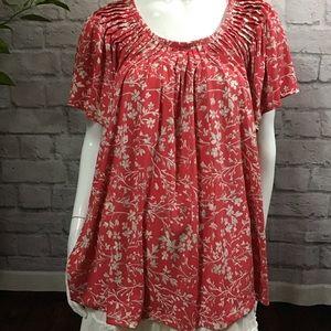 🌻 SALE! 3/$20 Pink & white floral plus 3X top